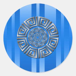 Adesivo Redondo Motivo grego do círculo