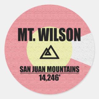 Adesivo Redondo Mount Wilson