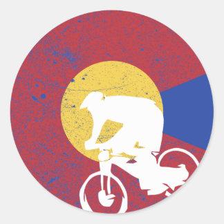 Adesivo Redondo Mountain bike Colorado