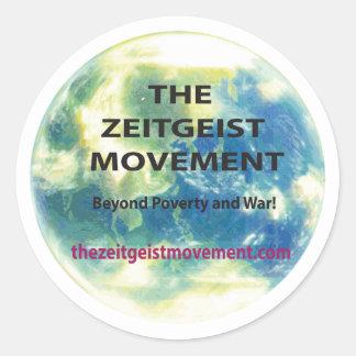 Adesivo Redondo Movimento do zeitgeist