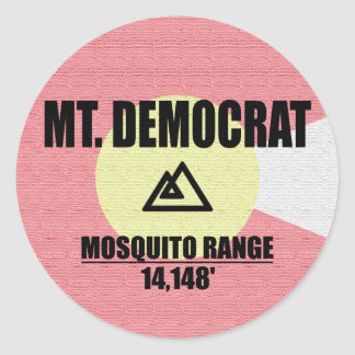 Adesivo Redondo Mt. Democrata