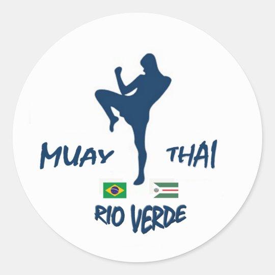 ADESIVO REDONDO MUAY THAI RIO VERDE