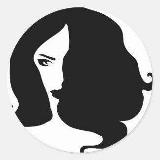 Adesivo Redondo mulher