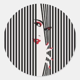 Adesivo Redondo Mulher do auge (branca)
