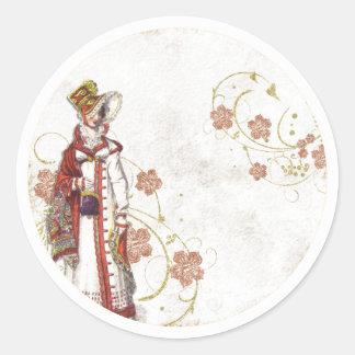 Adesivo Redondo Mulher do Victorian