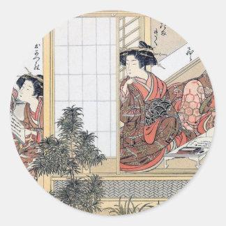 Adesivo Redondo Mulheres japonesas