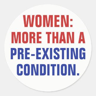 Adesivo Redondo Mulheres mais do que uma circunstância