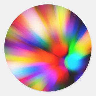 Adesivo Redondo Multi luzes borradas da cor