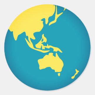 Adesivo Redondo Mundo asiático Emoji