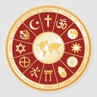 Adesivo Redondo Mundo da fé