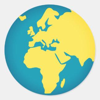 Adesivo Redondo Mundo Emoji de Europa