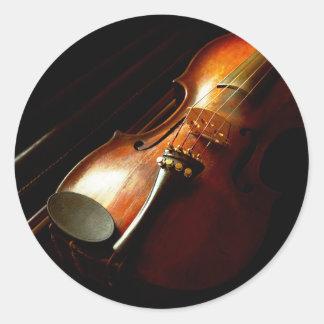 Adesivo Redondo Música - violino - os clássicos