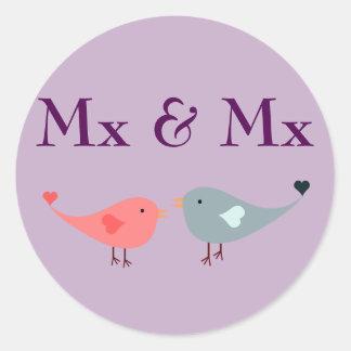 Adesivo Redondo MX & MX (casamento)