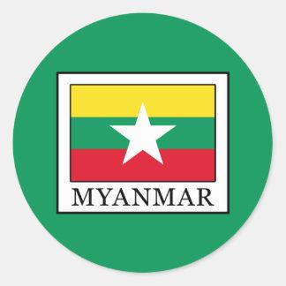 Adesivo Redondo Myanmar