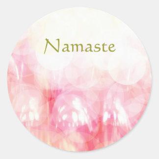 Adesivo Redondo Namaste