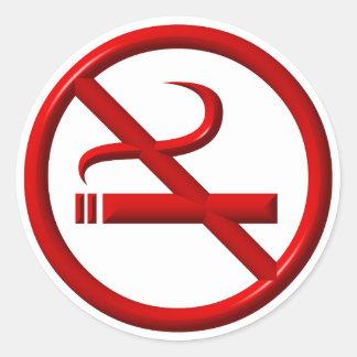 Adesivo Redondo Não fumadores/anti-fumaça