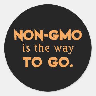 Adesivo Redondo Não-GMO