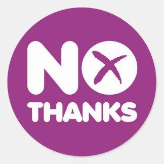 Adesivo Redondo Não vote nenhuma independência do Scottish da