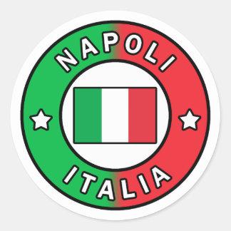 Adesivo Redondo Napoli Italia