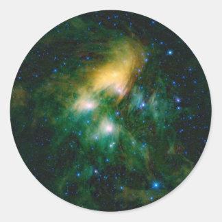 Adesivo Redondo NASA Pleiades