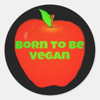 Adesivo Redondo Nascer de Apple a ser vegan