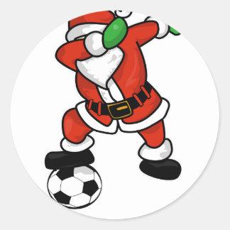 Adesivo Redondo Natal feio T-shir da dança da solha do futebol de