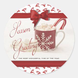 Adesivo Redondo Natal Holidys, a melhor época do ano