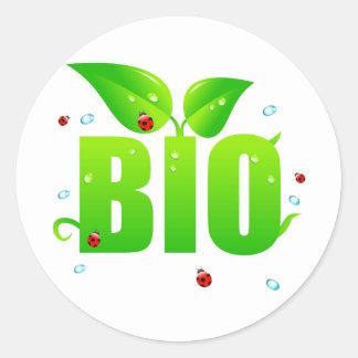 Adesivo Redondo Natural orgânico biológico verde