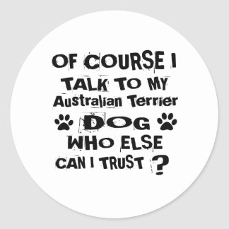 Adesivo Redondo Naturalmente eu falo a meu cão Desi de Terrier
