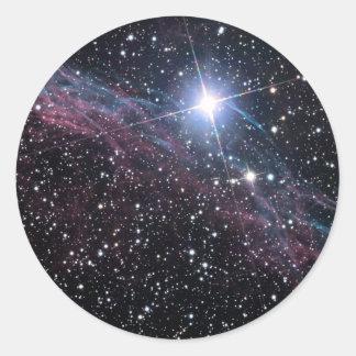 Adesivo Redondo Nebulosa do véu da NASA ESA
