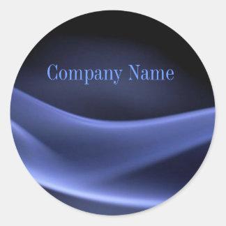 Adesivo Redondo negócio na moda moderno do abstrato do preto azul