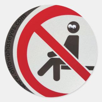 Adesivo Redondo Nenhum assento permitido