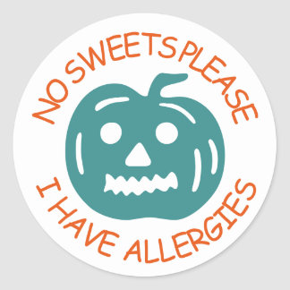 Adesivo Redondo Nenhum doce satisfaz, mim tem alergias