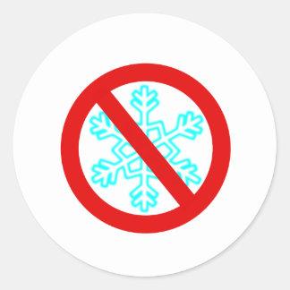 Adesivo Redondo Nenhum floco de neve