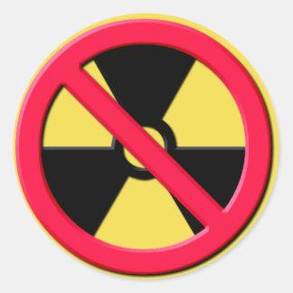 Adesivo Redondo Nenhumas armas nucleares