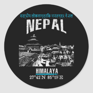 Adesivo Redondo Nepal