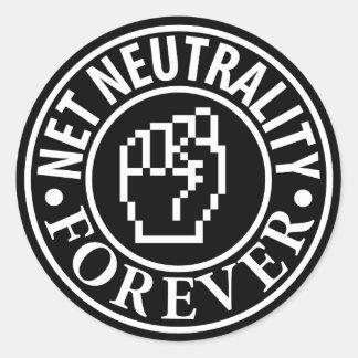 Adesivo Redondo Neutralidade líquida para sempre
