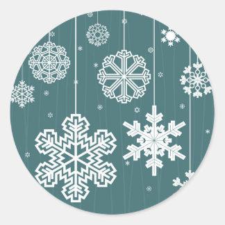 Adesivo Redondo Neve do Natal