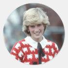 Adesivo Redondo No.42 polo 1983 da princesa Diana