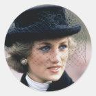 Adesivo Redondo No.44 princesa Diana France 1988