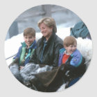 Adesivo Redondo No.69 William, Diana e Harry Lech 1993