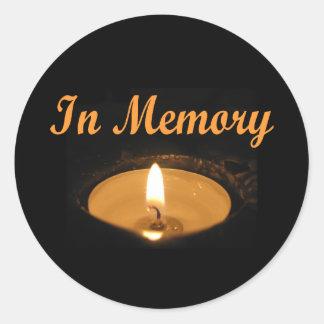 Adesivo Redondo No fulgor da vela da memória