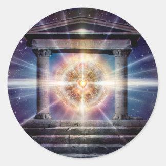 Adesivo Redondo Noite do templo do coração H111