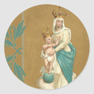 Adesivo Redondo Nossa senhora da criança Jesus da vitória