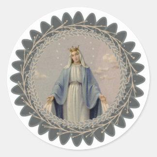 Adesivo Redondo Nossa senhora da Virgem Maria abençoada