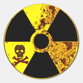 Adesivo Redondo nuclear memorável de Chernobyl do Dia da Terra