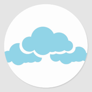 Adesivo Redondo Nuvens azuis
