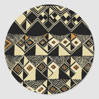 Adesivo Redondo O africano Kuba inspirou o design