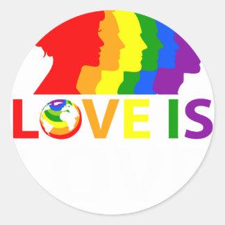 Adesivo Redondo O amor é amor
