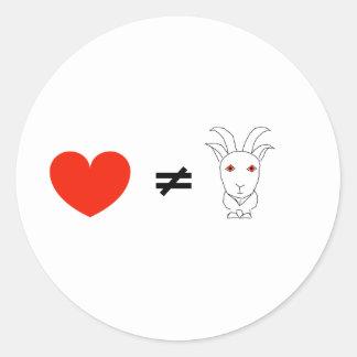 Adesivo Redondo O amor não é nenhuma Billy-Cabra